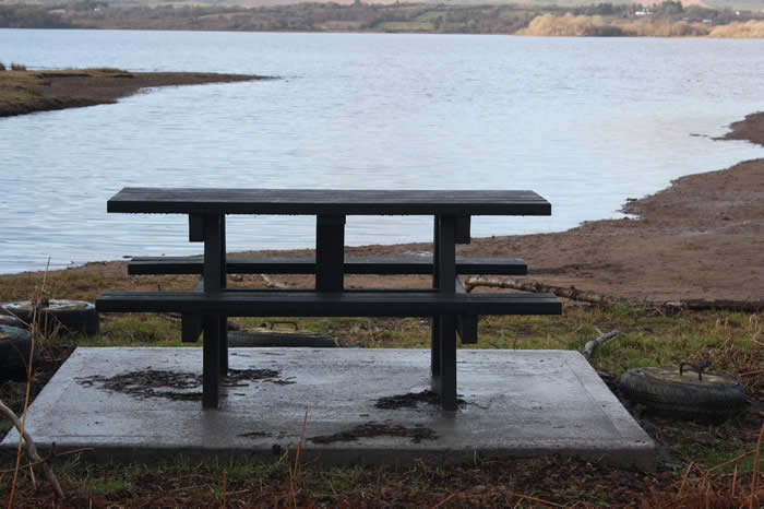 The new picnic table by the Glenisland river